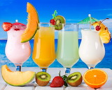 Tropical cocktails fruits fresh drink juice 1280x1024 hd-wallpap