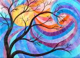 Winter tree, wild sky