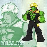 Hulkling on own