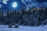 Winter full moon