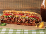 ^ Pulled pork submarine sandwich