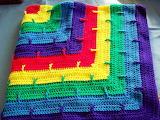 Primary Colors Rainbow Afghan