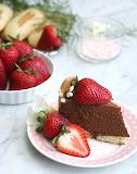 Ladyfinger chocolate mousse cake