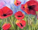 Georgia O'Keeffe poppies