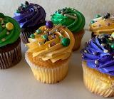 ^ Mardi Gras cupcakes