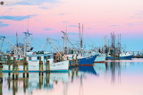 Sunrise shrimpers at the ready