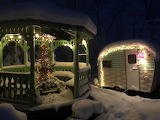 Camper in the Snow