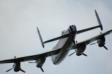 Lancaster Bomber Flying Close up