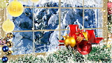 Christmas Winter Scene Through Windows