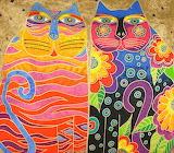Laurel Burch Cloth Cats