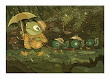 """Children's Tales"" Art tumblr dogstardreaming Frog Tadpoles"