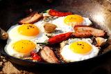 Huevos con panceta