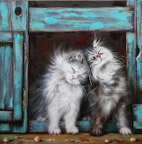 Two Fluffy Cats