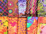 Bright, Colorful Fabric Squares