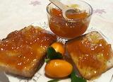 Tostadas con dulce de quinotos