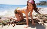 Bikini Girl on Raft