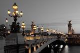 Farolas sobre el puente