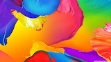 colorful paint splash abstract