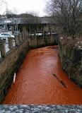 Mine water turns Beck orange