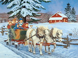Family sleigh Ride