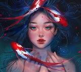 Koi Fish Woman