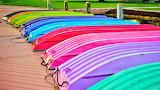 Rainbow Row of Boats