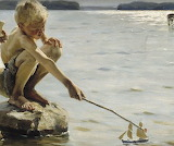 Albert Edelfelt, Boys Playing on the Shore, 1884 détail