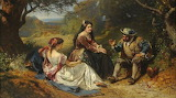 Sancho Panza Recounting His Adventure by Henri Charles Antoine B