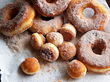^ Homemade donuts