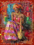 Mosaic woman