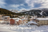Village Madonna di Campiglio in Winter and Mountains of Italy