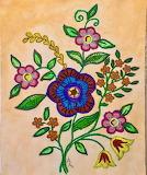 Jacobean Floral Bouquet
