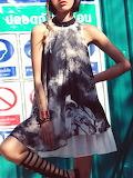 Aporia. AS Crew Neck Boho A-line Sleeveless Mini Dress