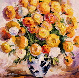 #Gold Bouquet by Leonid Afremov