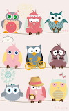 colorfull owls