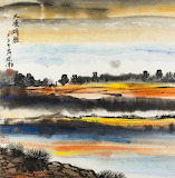 "Art Tumblr amare-habeo ""Jiannan Huang"" ""Shore in the evening"""