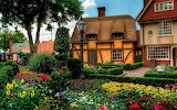 houses flowers nature