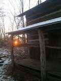 Sunset at Pioneer Cabin