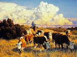 Cowboy cattle drive
