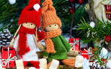 Christmas, figures, gifts, hat