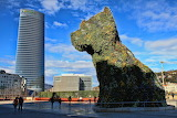 Dog Statue Bilbao Spain