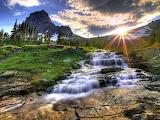Mountain Stream Sunrise