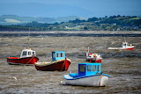 Boats in Morecambe Bay, Lancashire