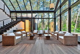 Modern Conservatory in a Peaceful Forrest