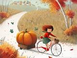 A beautiful autumn ride on a bike