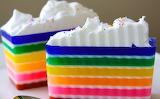 ^ Rainbow cake slices