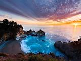 Big Sur California at Sunset USA