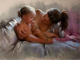 Confidence, mère et enfant.