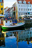 Copenhagen boat harbor Nyhavn