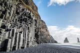Black Sand Beach & the Mount Reynisfjall, Iceland